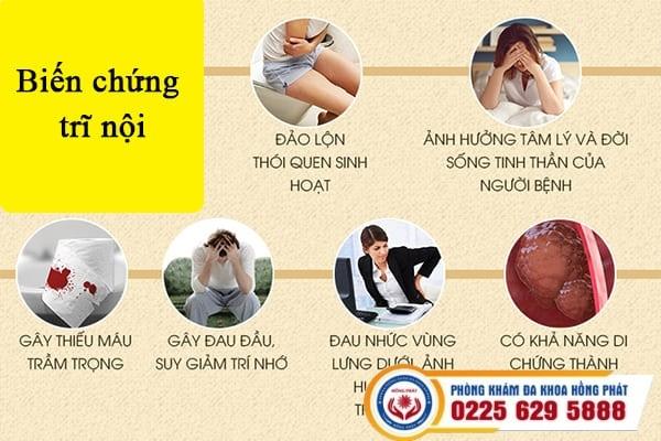 Tác hại trĩ nội chữa trị ngay tại Phòng khám Hồng Phát