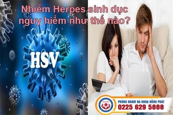Nhiễm herpes sinh dục nguy hiểm như thế nào?