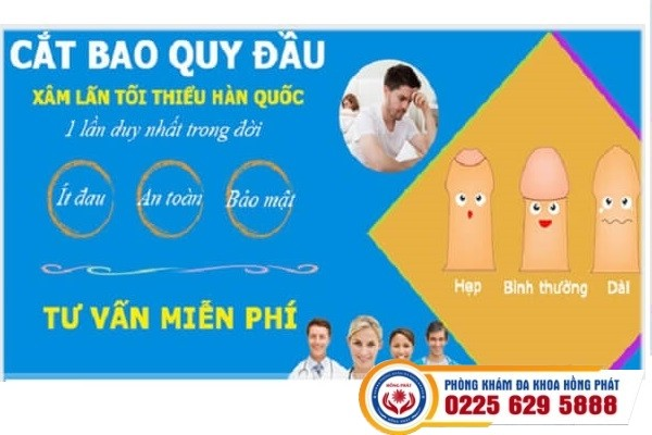 Phương pháp cắt bao quy đầu an toàn không đau tại Hồng Phát