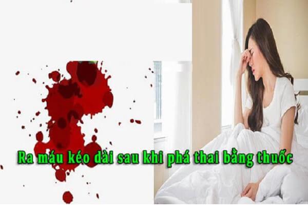 Phá thai bằng thuốc có ra nhiều máu không?